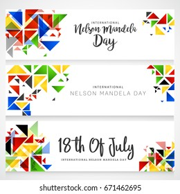 Illustration,Header Or Banner Of International Mandela Day.