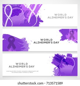 Illustration,Header Or Banner Of World Alzheimer's Day.