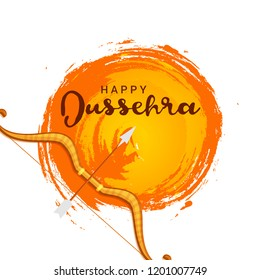 Illustration,Poster Or Banner For Happy Dussehra.