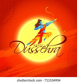 Illustration,Poster Or Banner For Indian Festival Of Dussehra.