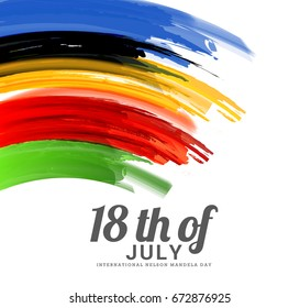 Illustration,Poster Or Banner Of International Mandela Day.