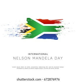 Illustration,Poster Or Banner Of International Mandela Day.