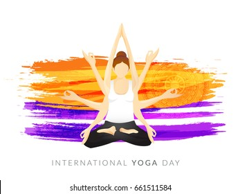 illustration,Poster Or Banner Of International Yoga Day.