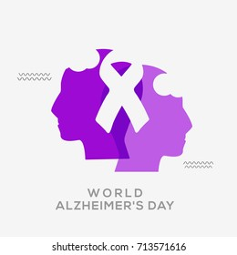 Illustration,Poster Or Banner Of World Alzheimer's Day.