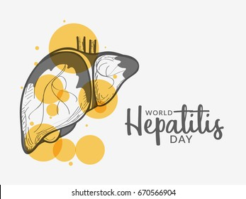 Illustration,poster or banner of World Hepatitis Day.