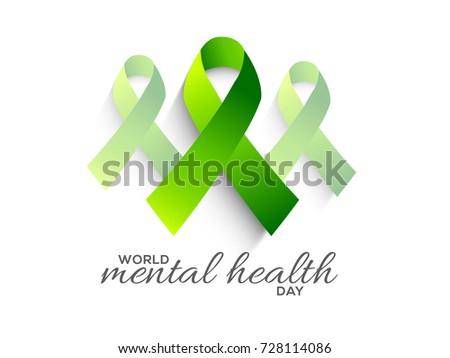 IllustrationPoster Or Banner Of World Mental Health Day