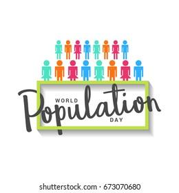 Illustration,Poster Or banner Of World Population day.