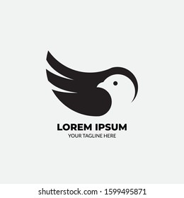 Illustrations Bird Flat Logo Vector