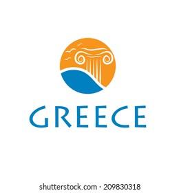 Illustrations icon greece