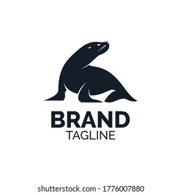 illustrations, icons, mascot, sea lions for apparel brand logo clothing