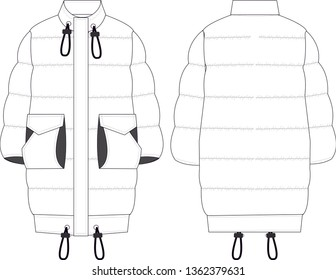 Illustrations jacket and coat