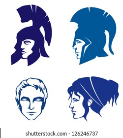 illustrations of people from Ancient Greece or Rome