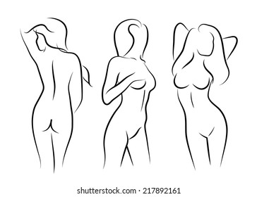 Naked lady drawings 13