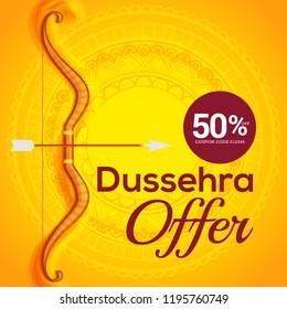 Illustration,Sale Poster Or Sale Banner For Dussehra Celebration.