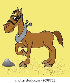 Illustratition of an Toonimal Horse-Vector