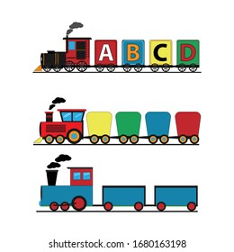 Illustrative design of various shapes of train