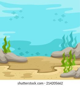 Illustrator of  background underwater on the sea