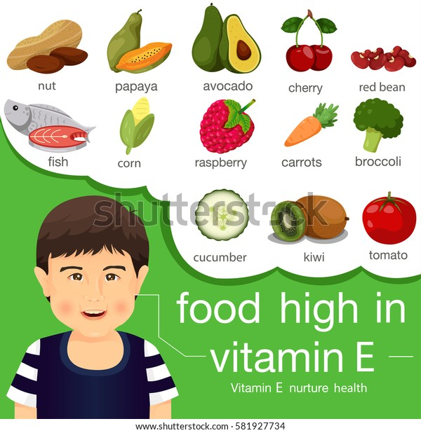 Illustrator of food high in vitamin e