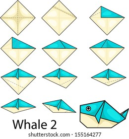Illustrator Of Origami With Whale 2