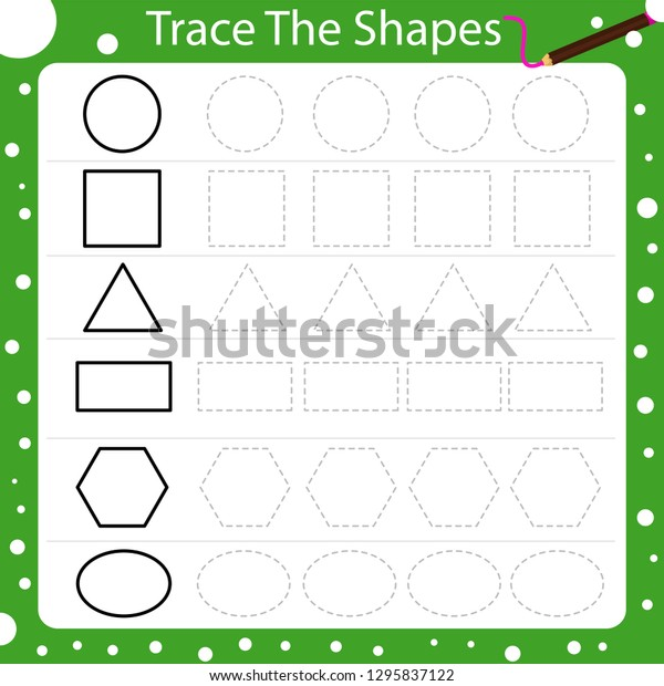 Illustrator Trace Shapes Stock Vector (Royalty Free) 1295837122