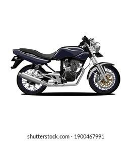 illustratuon of motor cycle vector design