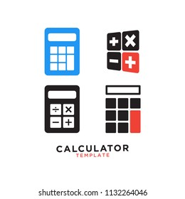 Illustrtation of calculator graphic design template vector
