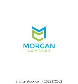 Ilustrasi vektor desain awal template logo CM. mc logo / cm logo.