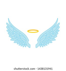 Ilustration of angel wings. Vector.