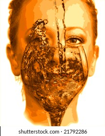 iluustration of glass girl