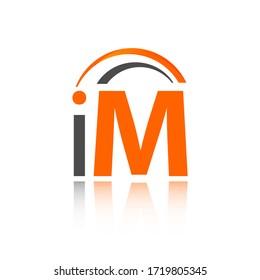 IM logo initial letter design template illustration