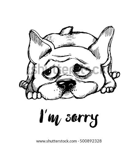 im sorry funny dog character hand のベクター画像素材 ロイヤリティ