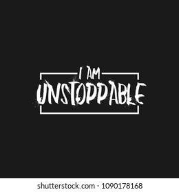 Im Unstoppable Typography Design