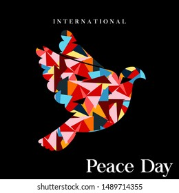 Image of abstract bird with a triangle on World Peace Day