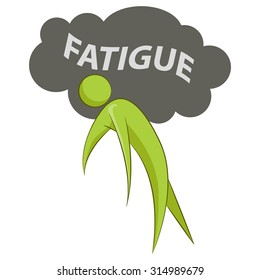 An image of an abstract individual suffering from fatigue.