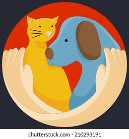 An image of an animal rights protection symbol.