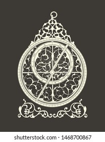 Image of the astrolabe scientists of the Arab Caliphate