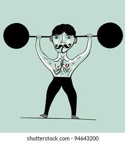 Image of an athlete who is engaged in weightlifting