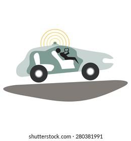 An image of a autonomous self-driving car.