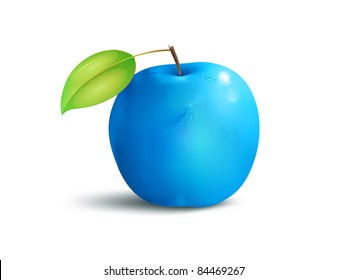 An image of a beautiful blue apple