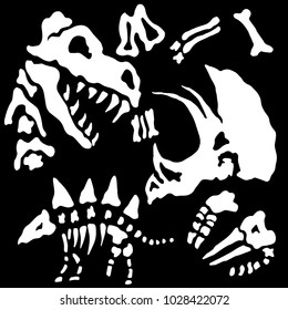 An image of a buried dinosaur fossil bones.