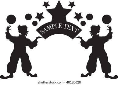 image of clowns in vector format