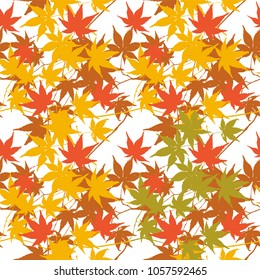 image, color tile - Geometric seamless pattern. leaves.