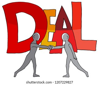 An image of a Deal Word Two People Shaking Hands.