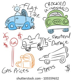 An image of a different car problems.