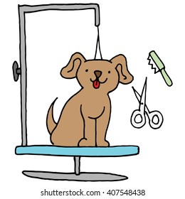 An image of a Dog grooming table.
