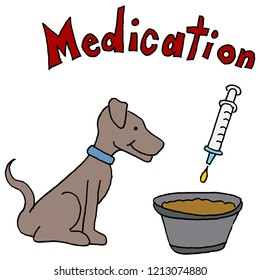 An image of a Dog Medication in Food Pet Care.