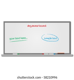 Image of a dry erase board with editable text.