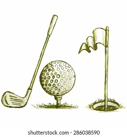 Image of equipment for golf