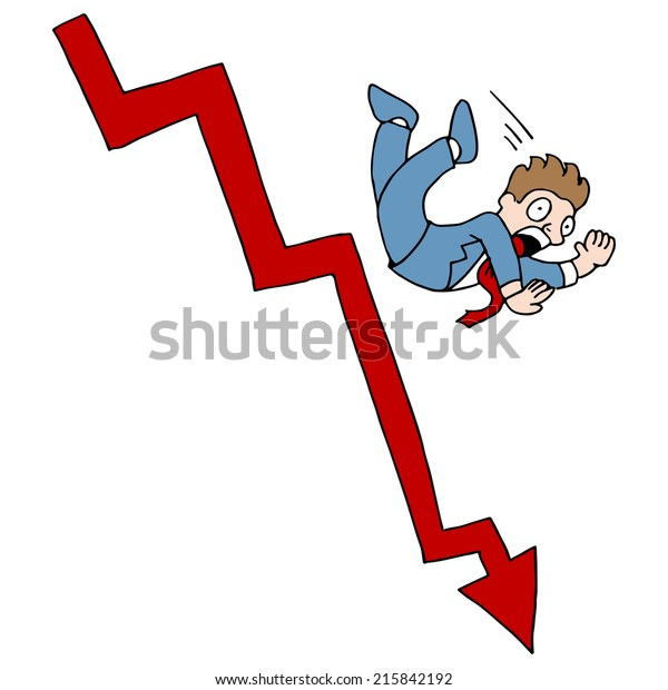 An image of a falling stock market.