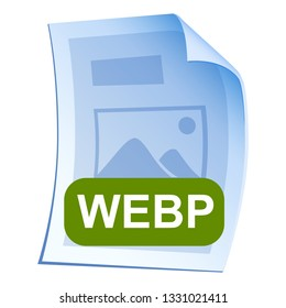 Image File format or file extension WebP icon for interface applications and websites and software development isolated on white background. Vector illustration
